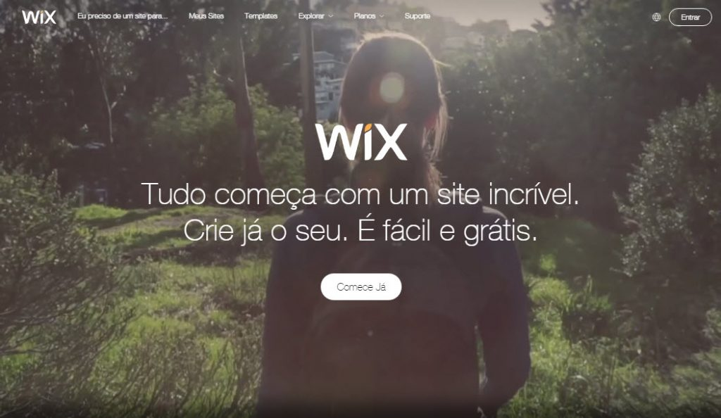 Wix criador de sites